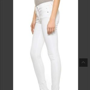 McGuire Denim Newton Skinny Jeans Raw Hem in White